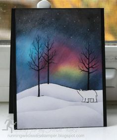 Northern Lights technique http://runningwscissorsstamper.blogspot.com/2014/11/fm187-weather-inspiration.html
