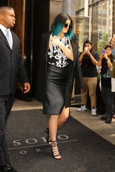 """06.04.14: Kylie leaving the Trump SoHo Hotel for """"The Tonight Show with Jimmy Fallon"""""""