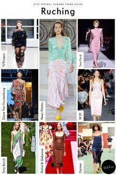 Ruching Spring 2018 Fashion Trends, Spring Summer Trends, Fashion 2018, Spring Summer Fashion, 50 Fashion, Fashion Rings, Fashion Women, Fashion Ideas, Fashion Dresses