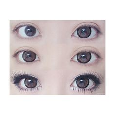 circle lens on Tumblr ❤ liked on Polyvore featuring eyes, photos, makeup, circle, circular and round