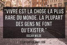 citation d'Oscar Wilde sur la vie
