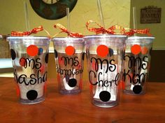 Halloween gifts I made for my sons daycare teachers!!! ;)