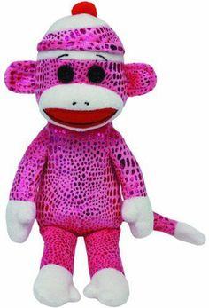 ed3d0396ebe TY Beanie Baby - Sock Monkey - Purple Sparkle - 8.5 inch Beanie Boos