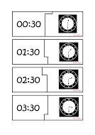 Puzzels klokkijken halve uren