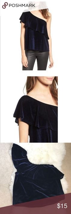 NEW - Ten Sixty Sherman Velvet One Shoulder Top NEW - never worn. Super trendy one shoulder velvet top from Ten Sixty Sherman . A great top for going out or for a weekend with friends. Ten Sixty Sherman Tops