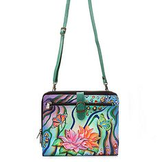 Anuschka Hand-Painted Leather Tablet Case w/ Removable Strap on sale at ShopHQ.com