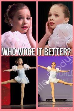Who wore it better?Mackenzie or Maddie?