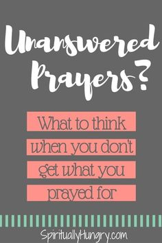 Have your prayers ever gone unanswered? It's really confusing when you pray and believe God can change the situation, and nothing happens or it doesn't go the way you hoped. Come along with Spiritually Hungry as we explore this often difficult phenomenon. Prayer For Husband, Prayer For Family, Prayer For Today, Husband Quotes, Daily Prayer, Prayer Request, Prayer Quotes For Strength, Pray For Strength, Quotes About Strength