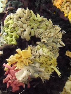 Brown Triple Spiral (Triskele) - Knitted rug -  -  Karen Tiede Studio - 1