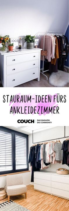 Storage Room Ideas for the Dressing Room: We show you chests of drawers, clothes rails and organizing aids that make room in the walk-in wardrobe! by couchmagazin Balcony Furniture, Home Furniture, Furniture Design, Gothic Furniture, Couch Magazin, Living Room Decor, Bedroom Decor, Tumblr Rooms, Dressing Room
