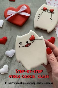 Cat Cookies, Best Sugar Cookies, Valentine Cookies, Cut Out Cookies, No Bake Cookies, Cupcake Cookies, Cupcakes, Cookie Tutorials, Royal Icing Cookies