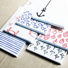 Love these nautical notepads
