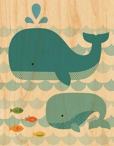 dessin de baleines