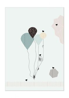 Balloons - Dagens Poster | BoligciousBoligcious