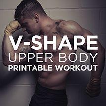 V-Shape Upper Body Printable Workout Plan