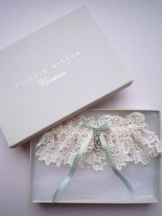 Florrie Mitton Couture, Forever lace garter with rhinestone trim #wedding #bride