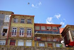Colorful houses on a sunny summer day in Porto, Portugal