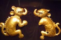 Prehispanic gold from Lembayaque,Peru