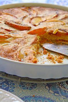wabi: Peach pie - Ροδακινόπιτα Greek Sweets, Greek Desserts, Tart Recipes, Sweet Recipes, Cyprus Food, Pizza Tarts, Cooking Photography, Fruit Jam, Sweets Cake