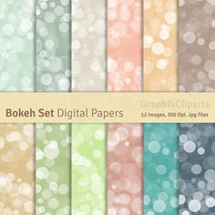 Bokeh Paper Pack by GraphikCliparts on Creative Market