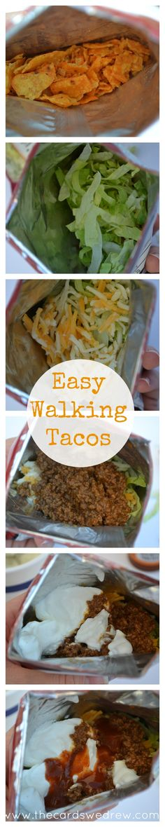 Easy Walking Tacos -perfect for tailgating or camping!