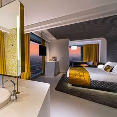 Another recent photo of #WBogota #hotel standard #guestroom #design w/ #StudioGaia ! #interiordesign #travel #nofilter #hospitality #columbia #latinamerica #LaborOfLove #photooftheday #mixology #modern #wanderlust #beautiful #gold #golden #nonconventional #architecture #bogota #hotels #jetset #cocktails #stunning #followme #designporn http://t.co/65ulXGWrXh