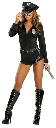 Sexy Polizistin Kostüm - Police Cop 7 teilig - für Fasching u0026 Shows  sc 1 st  Pinterest & Roma Costume - Lady Law Womenu0027s Costume 7PC Lady Law Includes Zipper ...