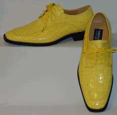 Mens Sunny Yellow Croco Embossed Lace-Up Dress Shoes Roberto Chillini 6548 Mens Wingtip Shoes, Find Color, Dress Shoes, Men Dress, Shoes Online, Black Men, Sunnies, Oxford Shoes, Lace Up