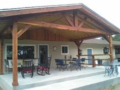 Chappell Holzbau The Effective Pictures We Offer You About wood patio A quality picture can tell you Patio Roof, Pergola Patio, Pergola Ideas, Porch Ideas, Covered Patio Design, Covered Decks, Backyard Covered Patios, Covered Back Patio, Gazebos