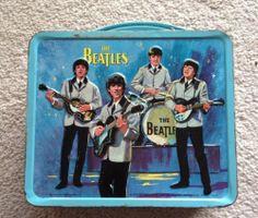Vintage Aladdin 1965 Beatles Blue Metal Lunchbox Pail Tin No Thermos | eBay