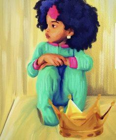 It all starts at home. Artwork b Black Love Art, Black Girl Art, Black Is Beautiful, Art Girl, Black Girls, Black Art Painting, Black Artwork, African American Art, African Art