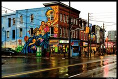Cool mural in Cabbagetown, Toronto #streetart