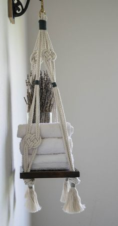Macrame Hanging Shelf Lover's Knot Macrame Hanging by TysKnots
