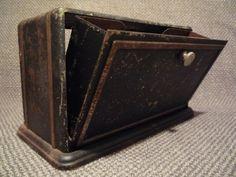 Antique Black & Gold Metal Desktop Eyeglass Case    by TroveMagpie