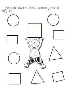 kare şekli Shapes Worksheet Kindergarten, Shapes Worksheets, Kindergarten Worksheets, Senses Activities, Child Teaching, Butterfly Crafts, Pre Writing, Math For Kids, Preschool Classroom