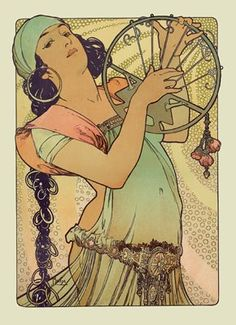 Alfons Maria Mucha July 1860 – 14 July known in English as Alphonse Mucha, was a Czech Art Nouveau painter and decorative artist,known best for his distinct style. Art And Illustration, Illustrations Posters, Comics Vintage, Vintage Posters, Vintage Images, Vintage Art, Vintage Style, Illustrator, Alphonse Mucha Art