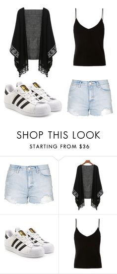 Sin título #46 by worldofalicin on Polyvore featuring moda, T By Alexander Wang, Topshop and adidas Originals