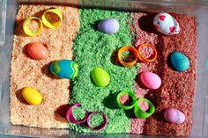 Easter Egg Sensory Bin ~ Learn Play Imagine