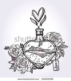 perfume bottle tattoos - Google Search