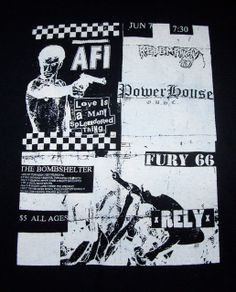 TOY SLAYER - PUNK ROCK FLYER SHIRT - AFI - REDEMPTION 87- POWERHOUSE - FURY 66 - RELY, $9.99 (http://www.toyslayer.com/punk-rock-flyer-shirt-afi-redemption-87-powerhouse-fury-66-rely/)