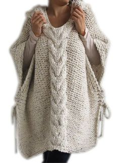 New Fubotevic Women Poncho Solid Color Hooded Twist Knitted Sleeveless Shawl Pullover Sweaters online – Thetrendyclothes Hand Knit Scarf, Crochet Poncho, Loose Sweater, Knit Fashion, Women's Fashion, Types Of Sleeves, Pullover Sweaters, Women's Sweaters, Sweaters For Women