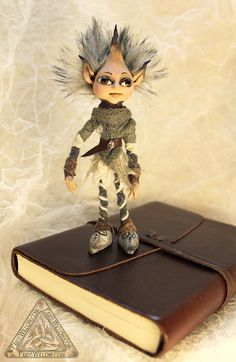 Pug Elf OOAK Art Doll hand made soft posable by FairyWillow, $55.00