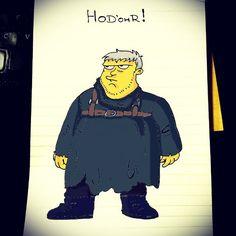 """""""The Gentle Giant! #Homer #Simpson #Hodor #GOT #GameOfThrones #Homerization"""""""