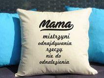 Mama mistrzyni, Poduszka dekoracyjna z nadrukiem, Prezent dla mamy, Dzień Mamy, Urodziny Mamy, Upominek dla Mamy, Poduszka dla mamy
