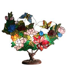 If you are into unique things or floral and butterfly patterns in general, this will surely suffice your creative side. This beautiful and creative table lamp is suitable on any table and any type of home. The total height is 26 inches.