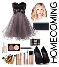 """""""Homecoming"""" by girl3beauty ❤ liked on Polyvore featuring Giuseppe Zanotti, Essie, Yves Saint Laurent, Maybelline, Charlotte Tilbury, NARS Cosmetics and Bobbi Brown Cosmetics"""