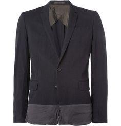 Kolor Panelled Slim-Fit Cotton-Blend Suit Jacket | MR PORTER