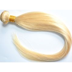 """Moresoo 3 Tissage 18inch Bresilien Court Lisse Naturel Vierge Lightest blonde 60# 18""""/45cm 300gram Moresoo http://www.amazon.fr/dp/B00UTDHGJQ/ref=cm_sw_r_pi_dp_.EfZvb1R9CX1A Wanna a different hair style and hair color, try our hair, you will love it. Different length conmbinatuon. There are other style and color hair in our store. Just serach Moresoo, you will see our product."""
