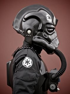 Tie fighter pilot (Star Wars) side view by WhiteCrow1 (Aaron Marine, link: http://aaronmarine.net/). [I-am-TI-201751037]