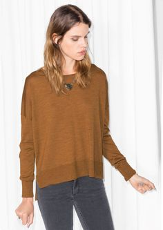 & Other Stories   Boat Neck Sweater